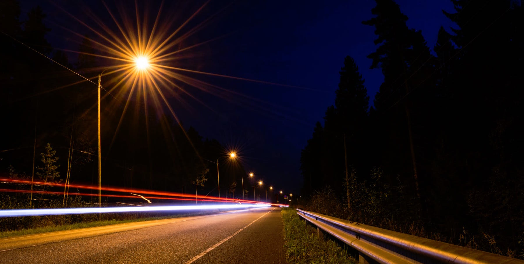 autoroute lampadaire