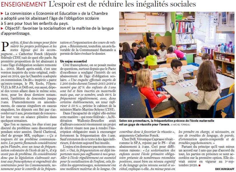 20190220 Le Soir maternelle 5 ans