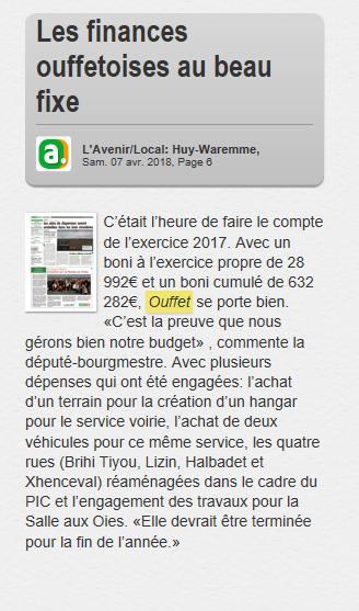 Finances Ouffet