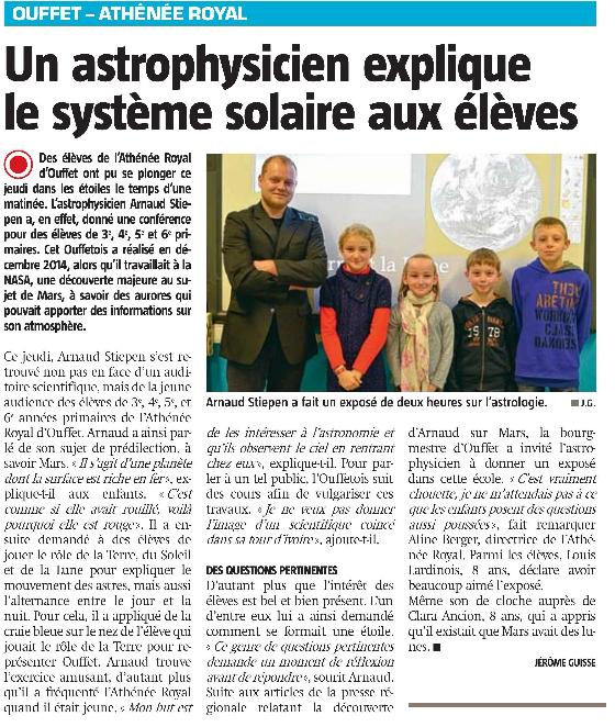 La Meuse 20 nov 2015 astrophysicien ouffet