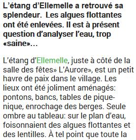 Lavenir - Etang Ellemelle - 13 janvier 2015