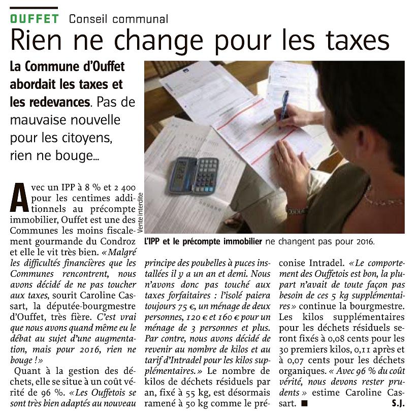 Lavenir 7 novembre 2015 taxes ouffet