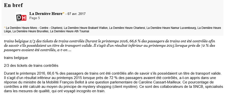 tickets de train contrôlés
